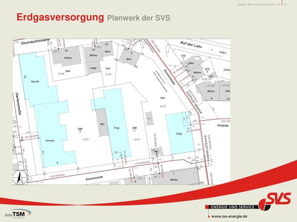 Erdgasversorgung Planwerk der SVS