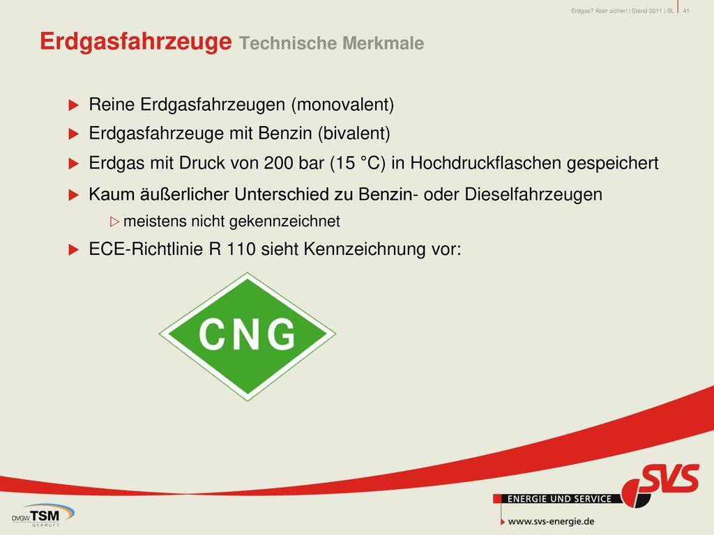 Erdgasfahrzeuge Technische Merkmale