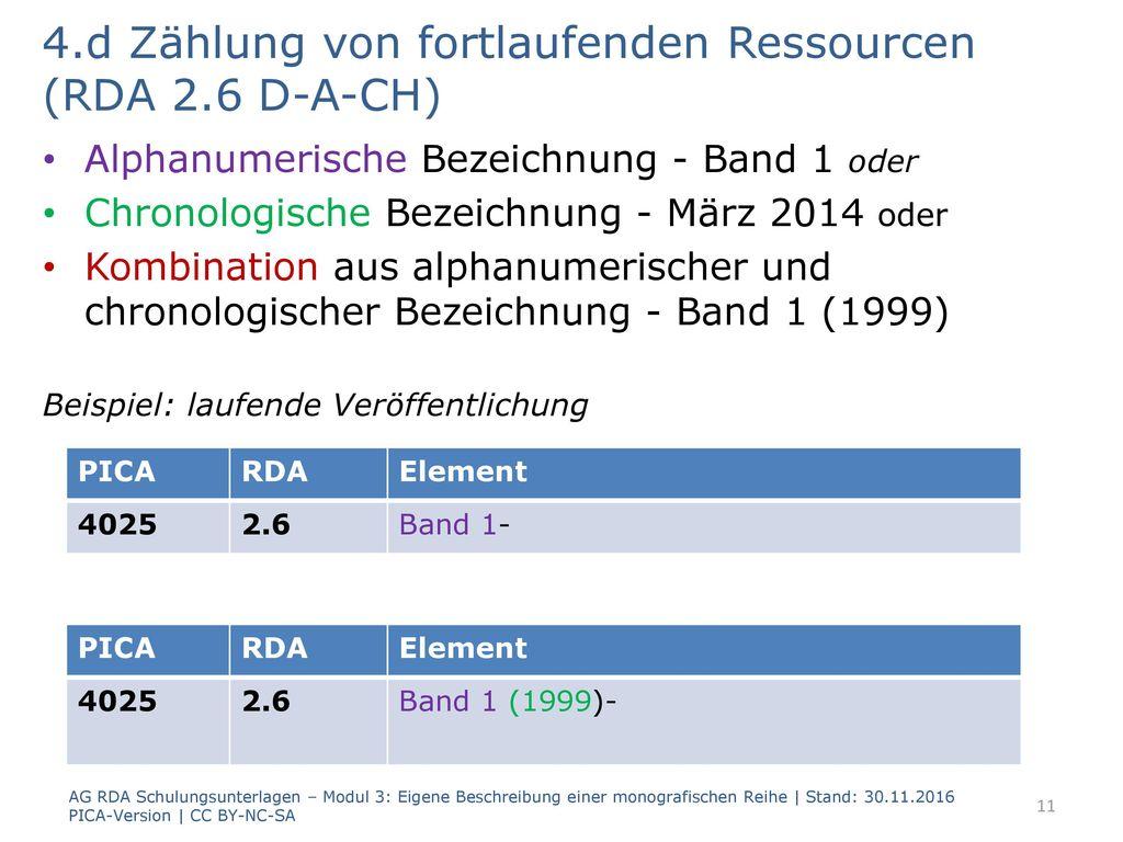 4.d Zählung von fortlaufenden Ressourcen (RDA 2.6 D-A-CH)