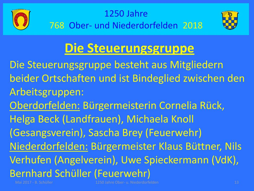 1250 Jahre 768 Ober- und Niederdorfelden 2018