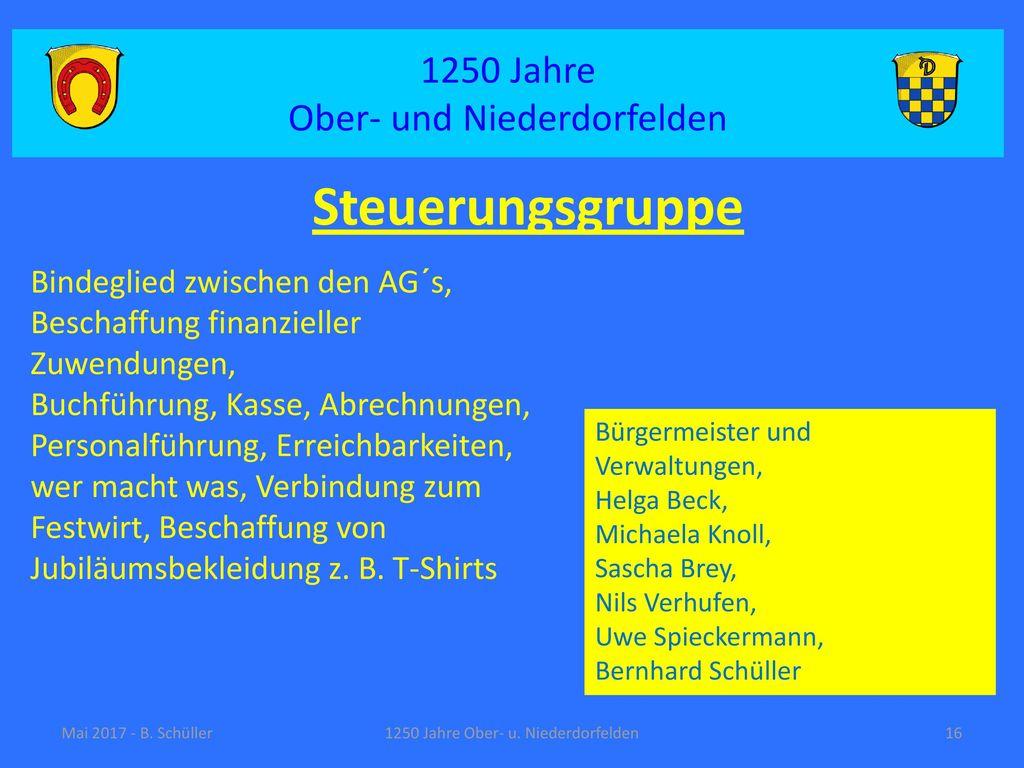 Steuerungsgruppe 1250 Jahre Ober- und Niederdorfelden