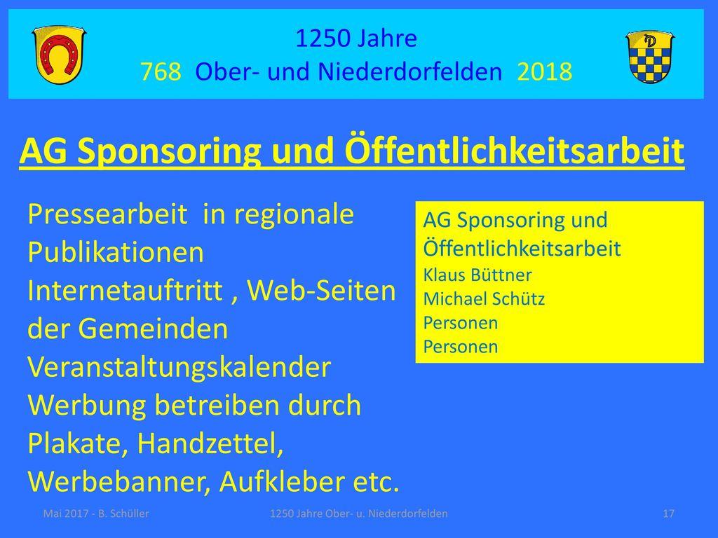 AG Sponsoring und Öffentlichkeitsarbeit
