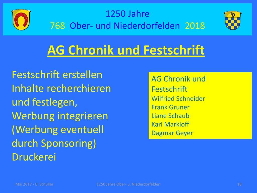 AG Chronik und Festschrift