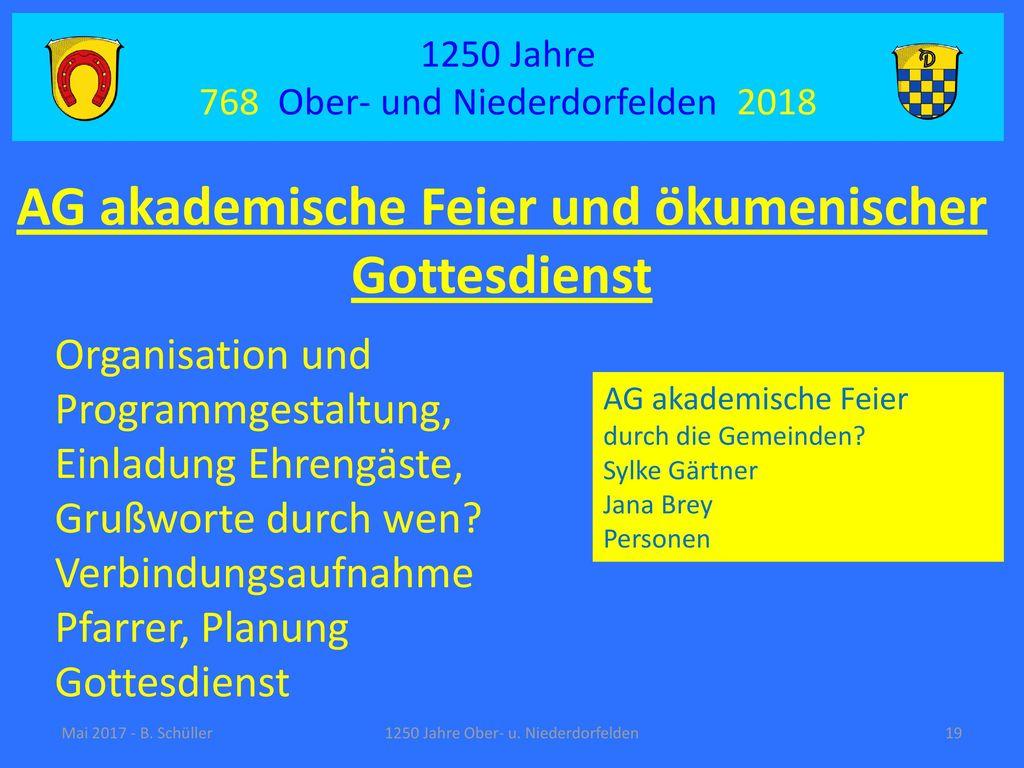 AG akademische Feier und ökumenischer Gottesdienst