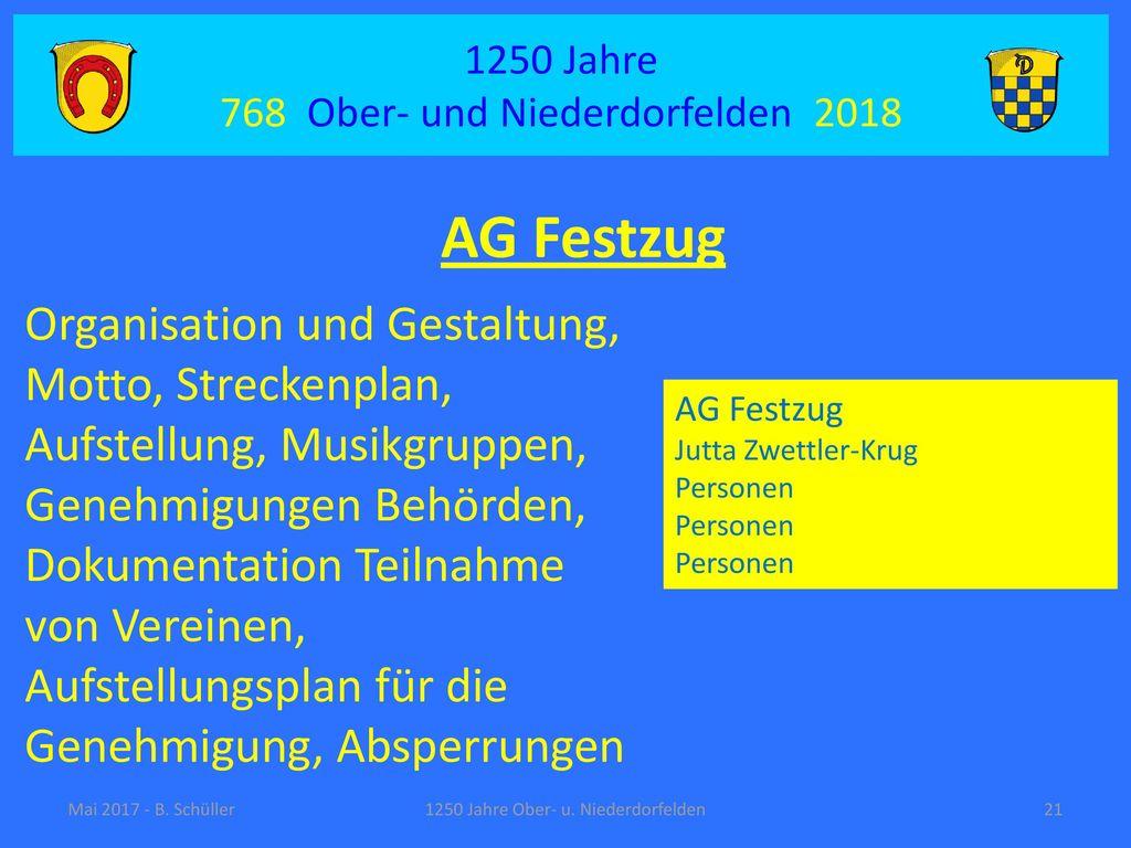 AG Festzug Organisation und Gestaltung,