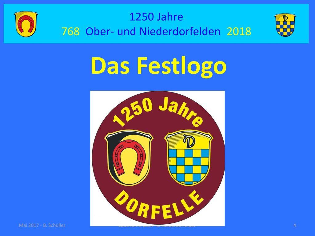 Das Festlogo 1250 Jahre 768 Ober- und Niederdorfelden 2018
