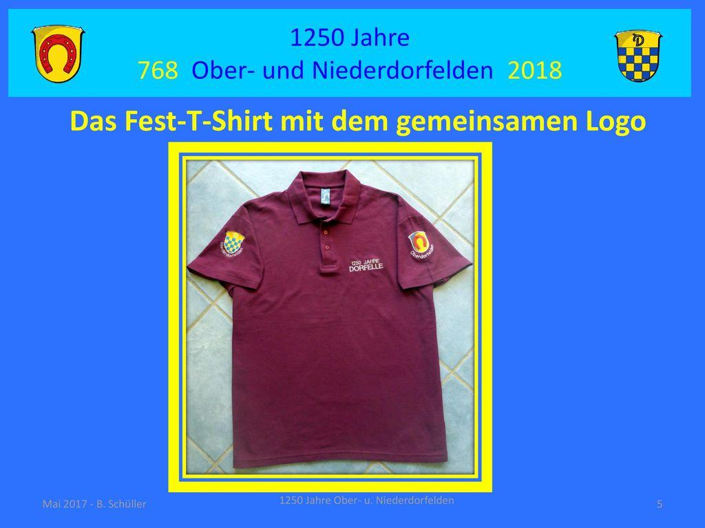 Das Fest-T-Shirt mit dem gemeinsamen Logo