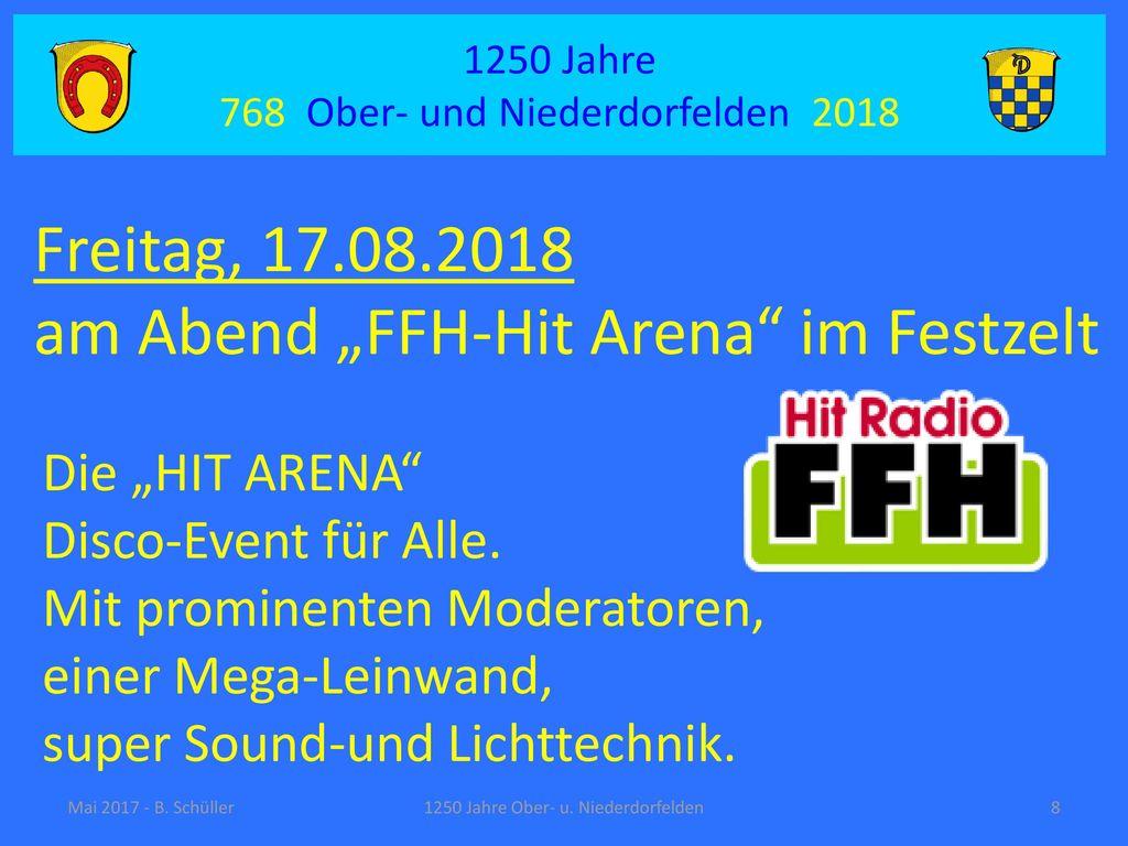 "am Abend ""FFH-Hit Arena im Festzelt"