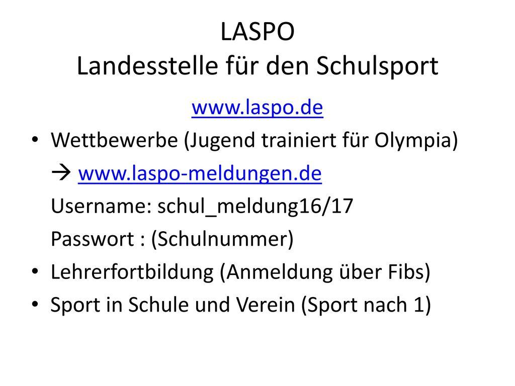 LASPO Landesstelle für den Schulsport