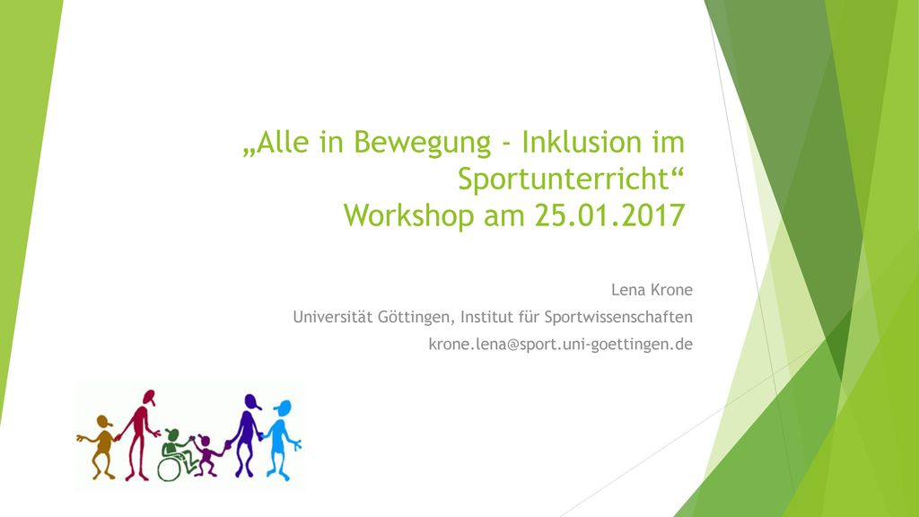 """Alle in Bewegung - Inklusion im Sportunterricht Workshop am"