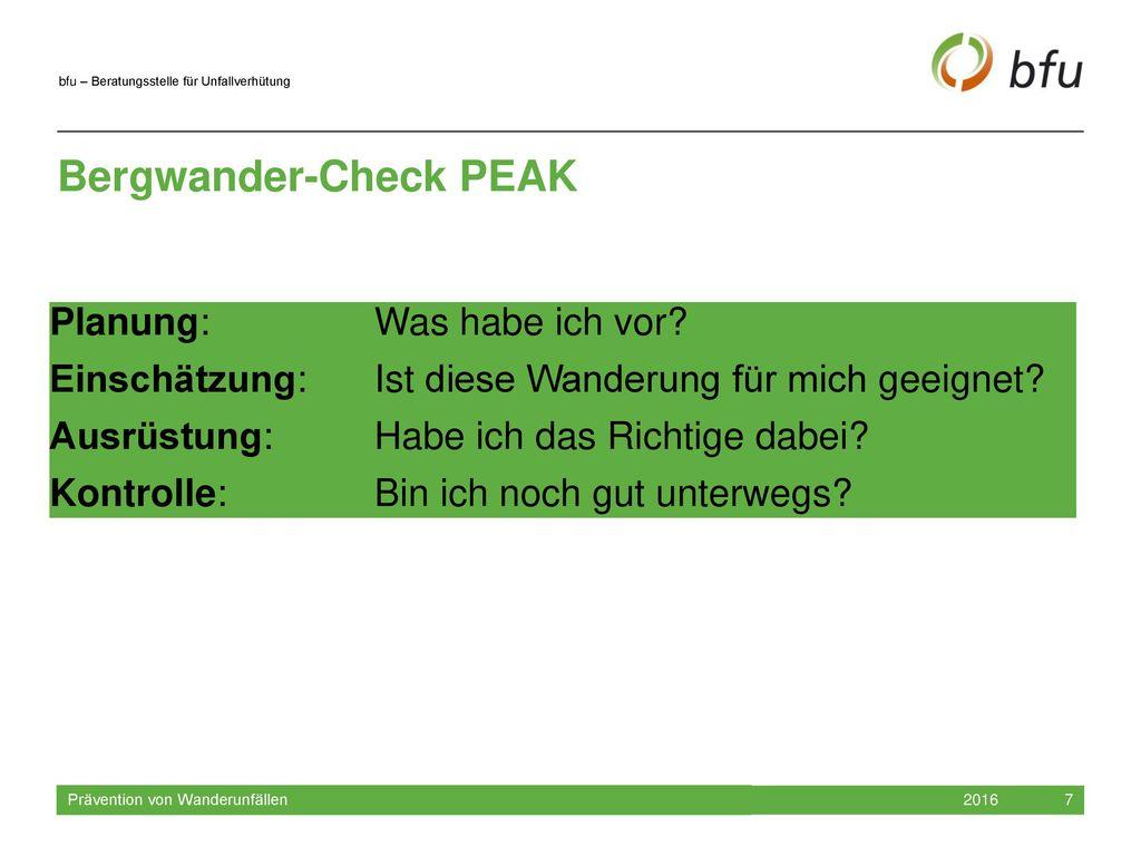 Bergwander-Check PEAK