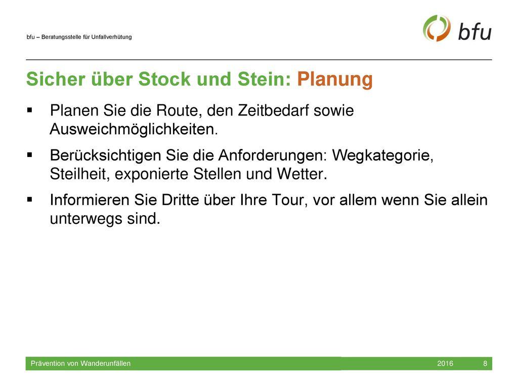 Sicher über Stock und Stein: Planung