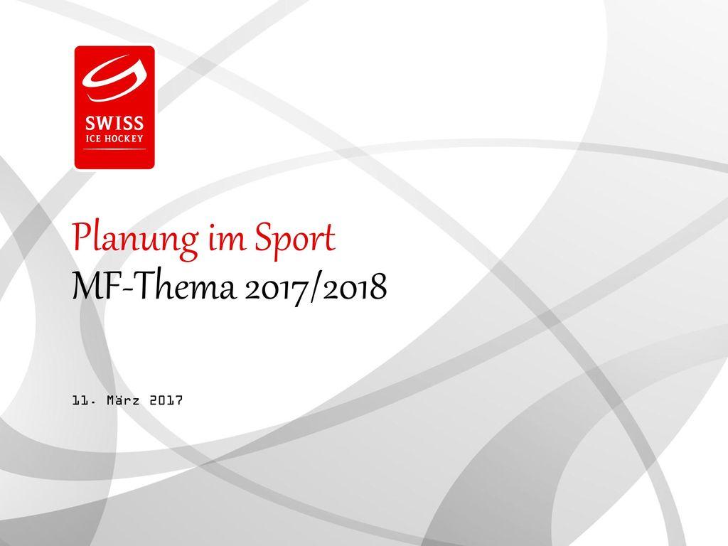 Planung im Sport MF-Thema 2017/2018