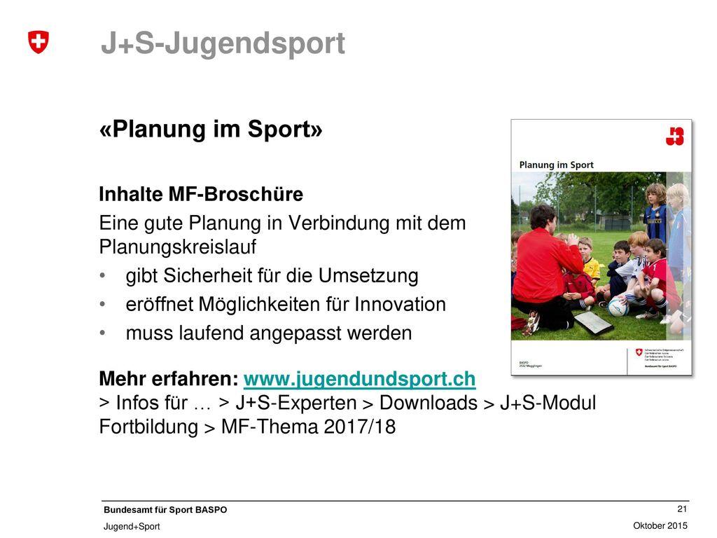 J+S-Kindersport «Störungen in Sportunterricht und Training»