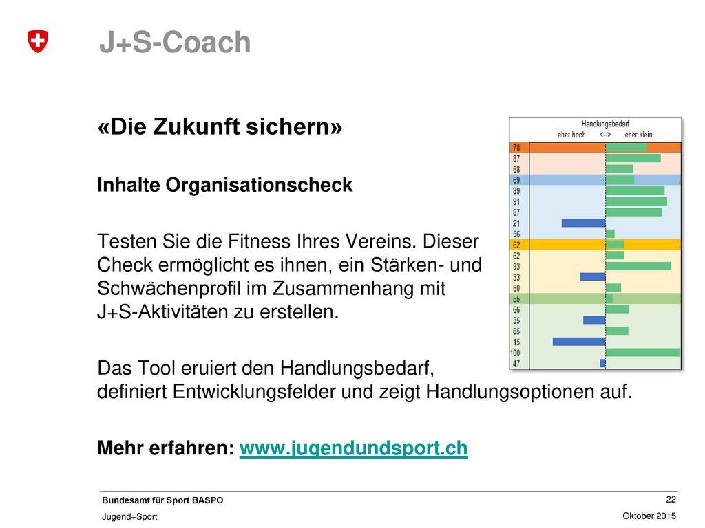 J+S-Jugendsport «Planung im Sport» Inhalte MF-Broschüre