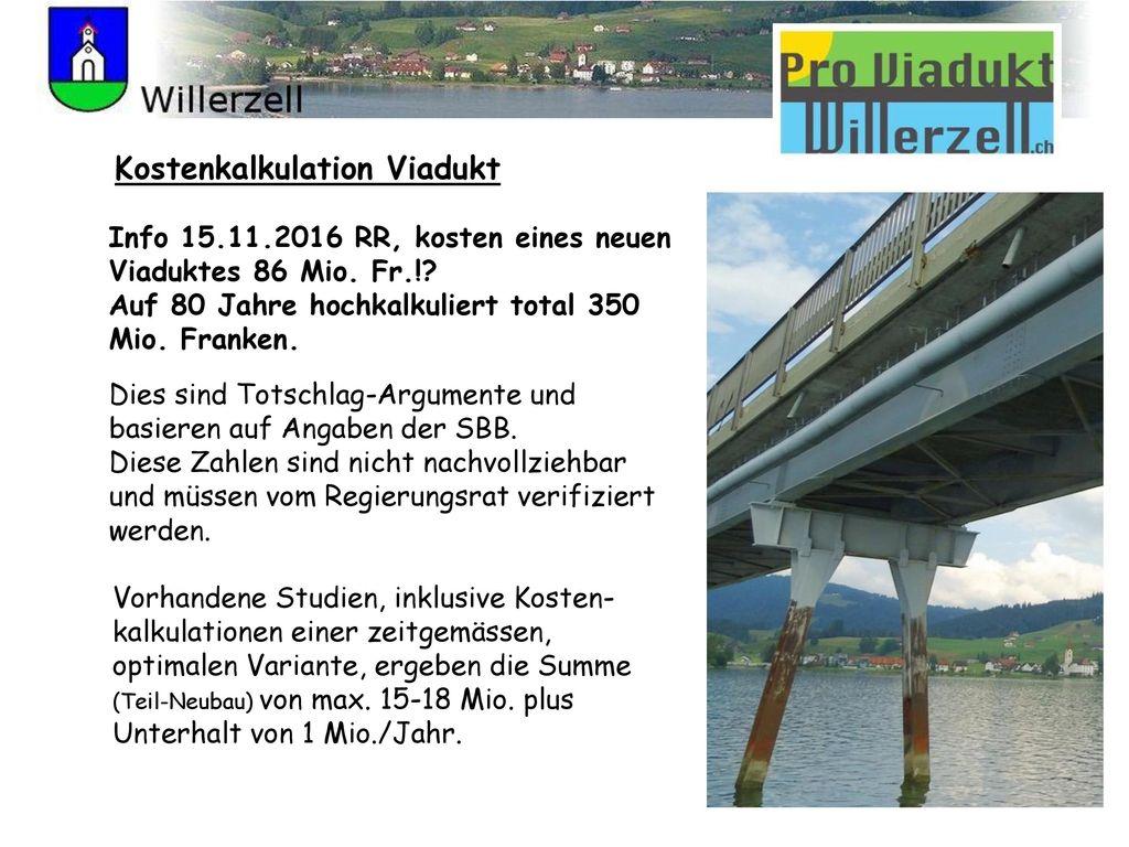 Kostenkalkulation Viadukt