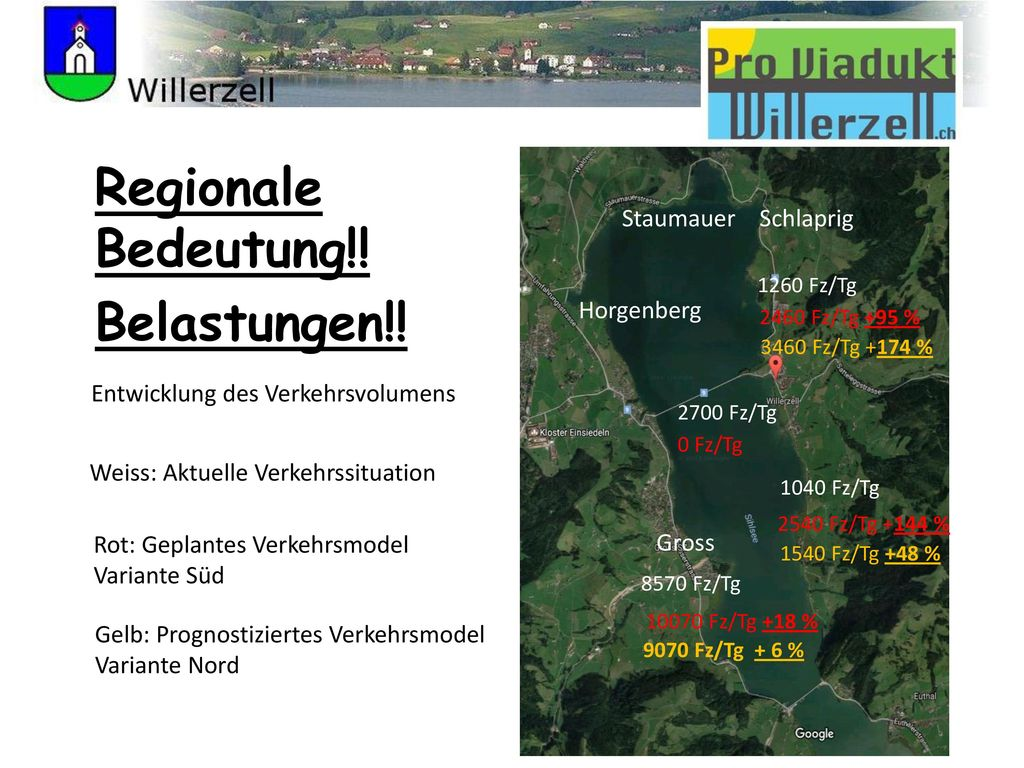 Regionale Bedeutung!! Belastungen!! Staumauer Schlaprig Horgenberg