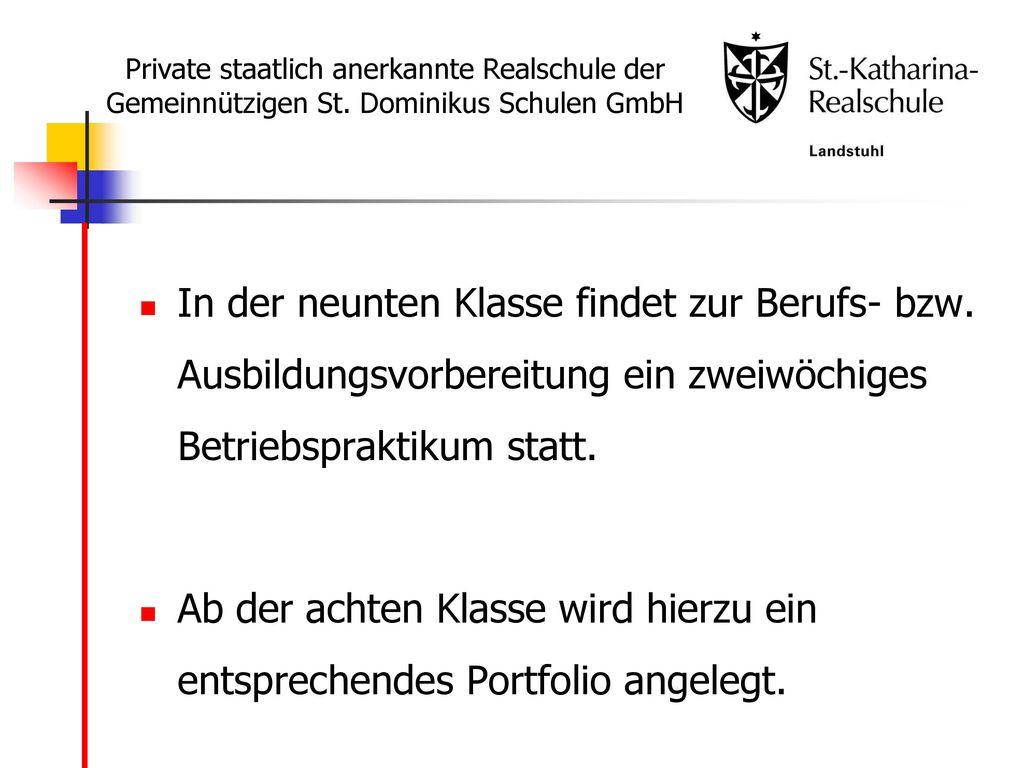 Private staatlich anerkannte Realschule der