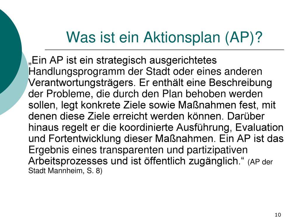 Was ist ein Aktionsplan (AP)