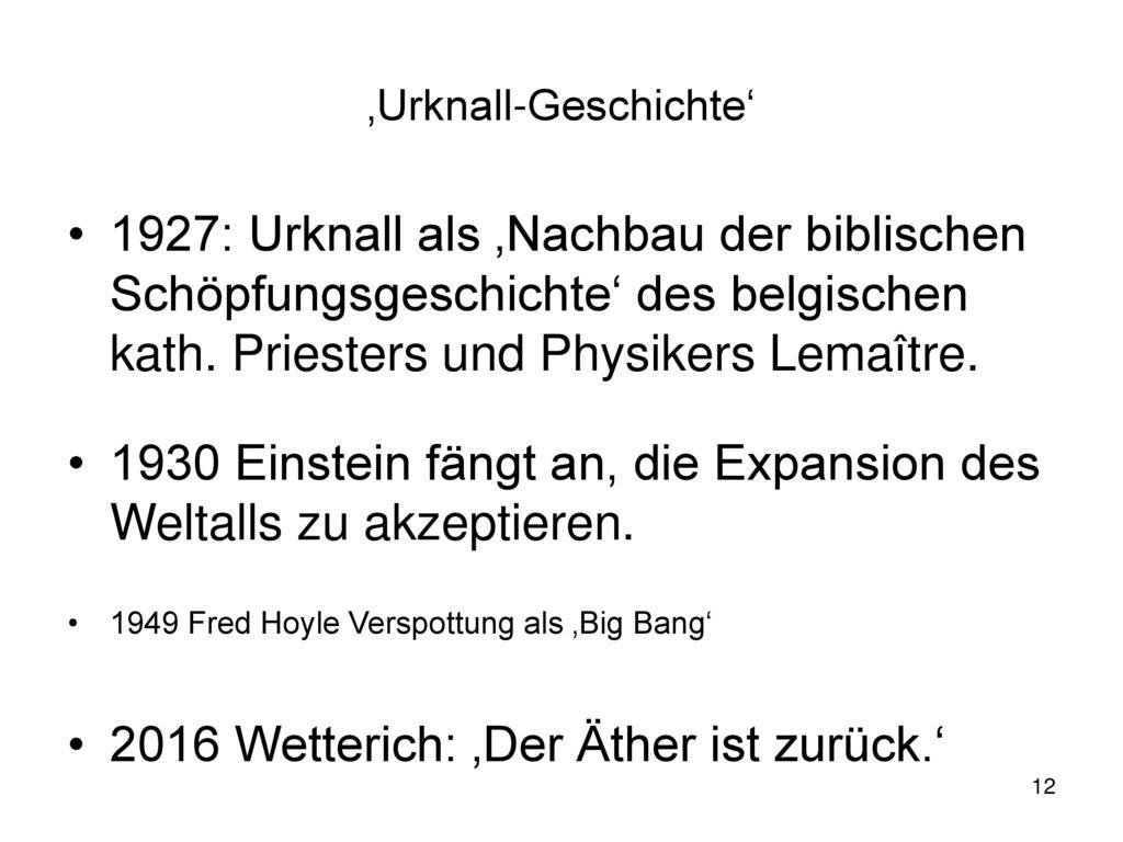 'Urknall-Geschichte'