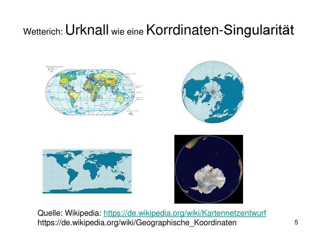 Wetterich: Urknall wie eine Korrdinaten-Singularität