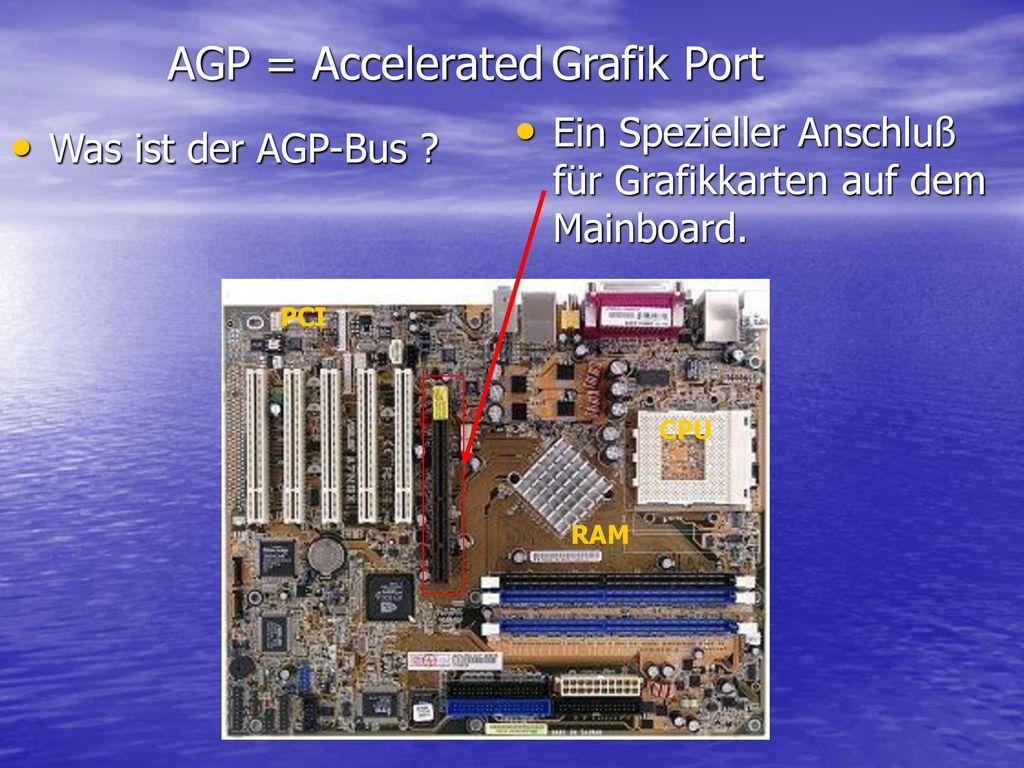 AGP = Accelerated Grafik Port