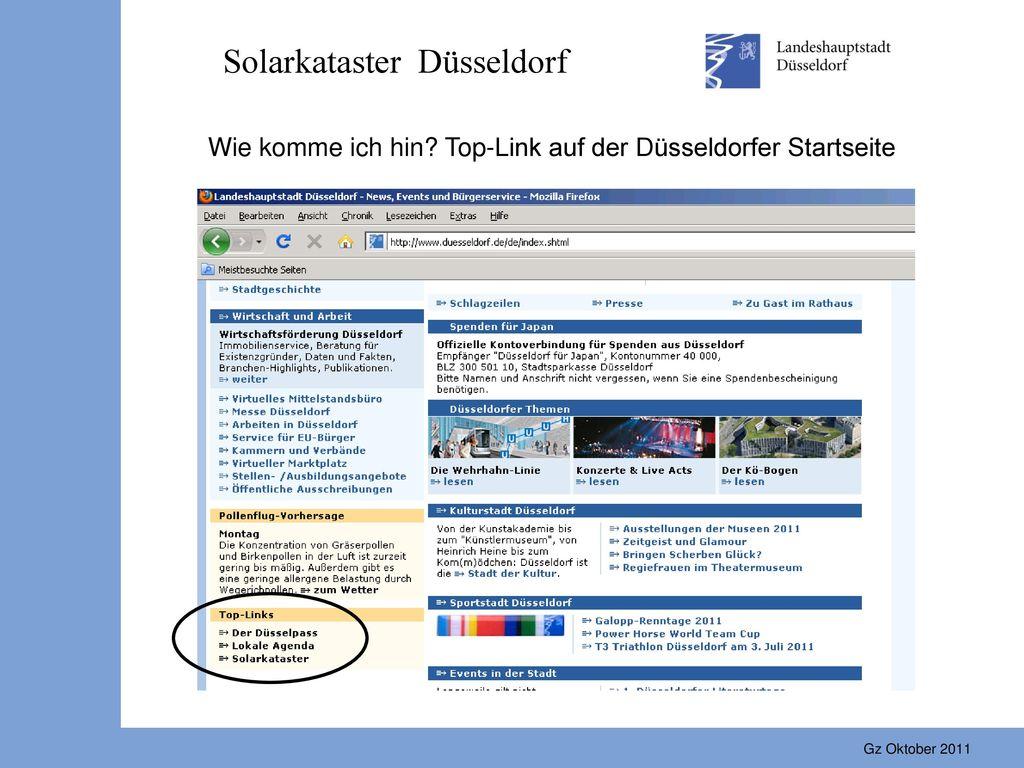 Solarkataster Düsseldorf