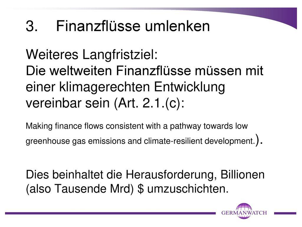 3. Finanzflüsse umlenken