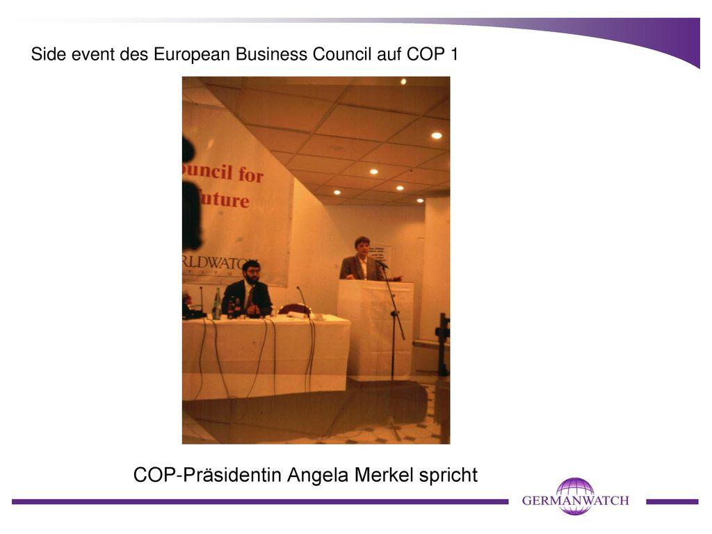 Side event des European Business Council auf COP 1