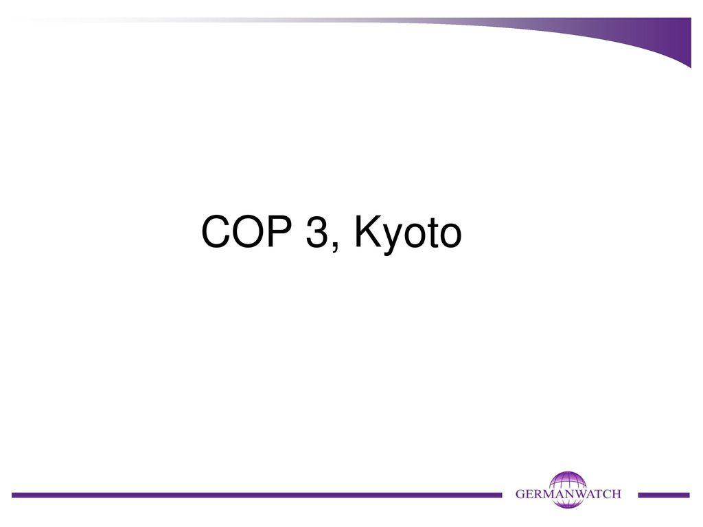 COP 3, Kyoto