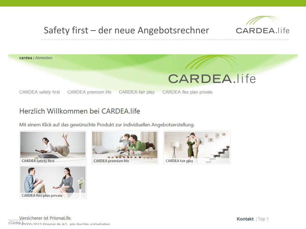 Safety first – der neue Angebotsrechner