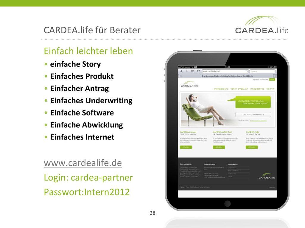 CARDEA.life für Berater