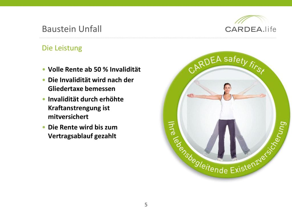 Baustein Unfall Die Leistung Volle Rente ab 50 % Invalidität