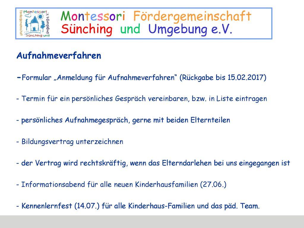 """Aufnahmeverfahren -Formular """"Anmeldung für Aufnahmeverfahren (Rückgabe bis 15.02.2017) - Termin für ein persönliches Gespräch vereinbaren, bzw."""