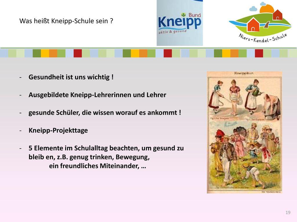 Was heißt Kneipp-Schule sein