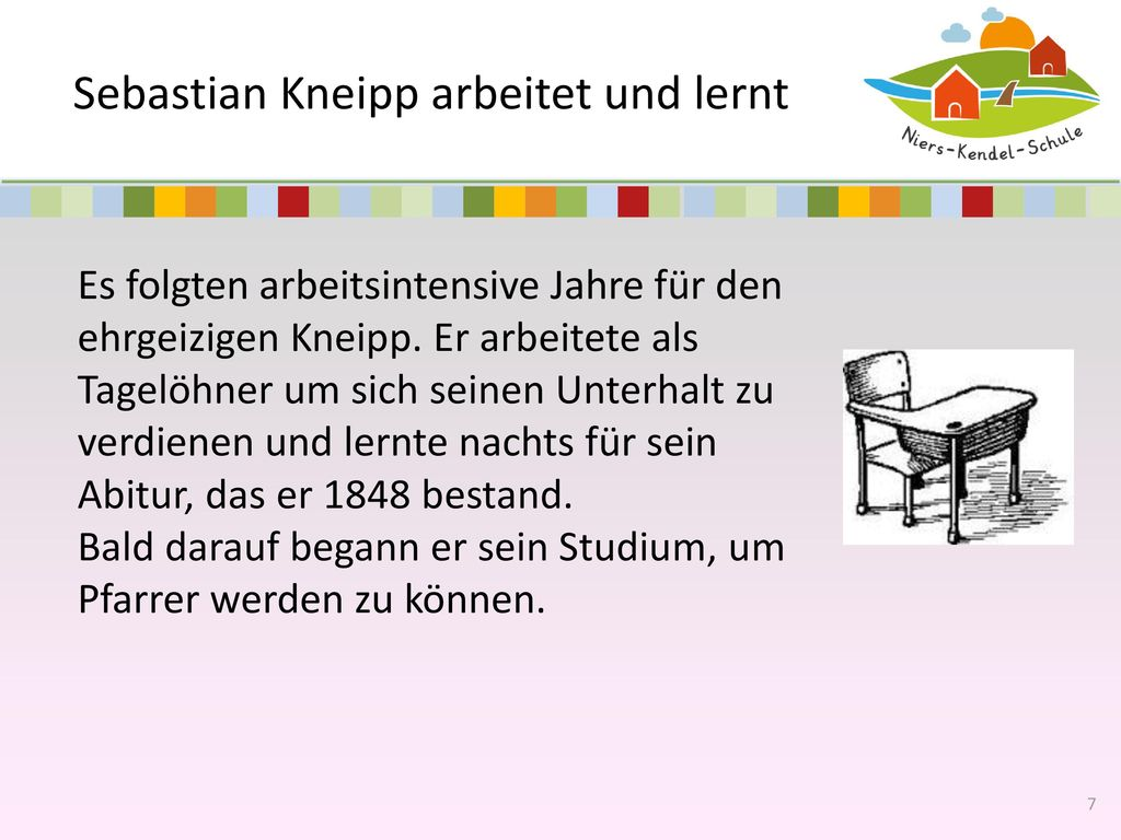 Sebastian Kneipp arbeitet und lernt