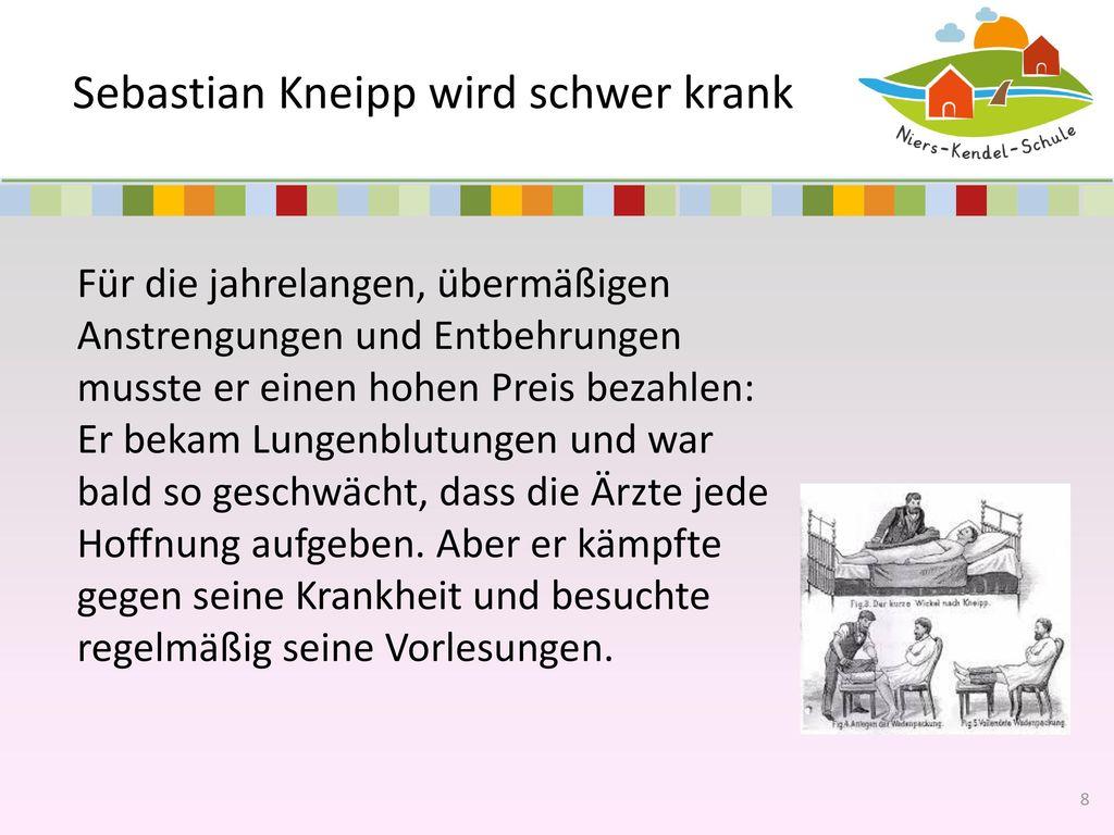 Sebastian Kneipp wird schwer krank