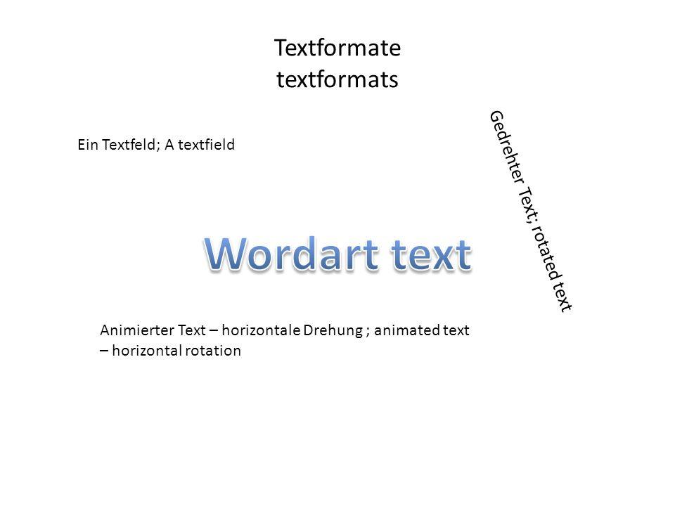 Textformate textformats