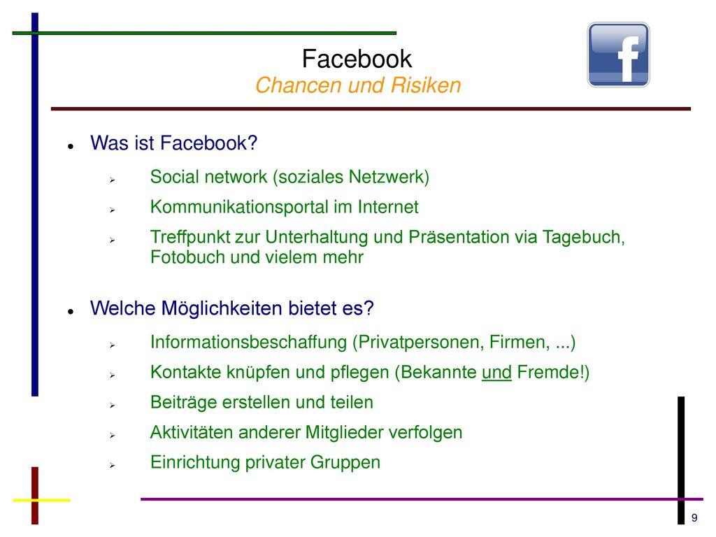 Facebook Chancen und Risiken