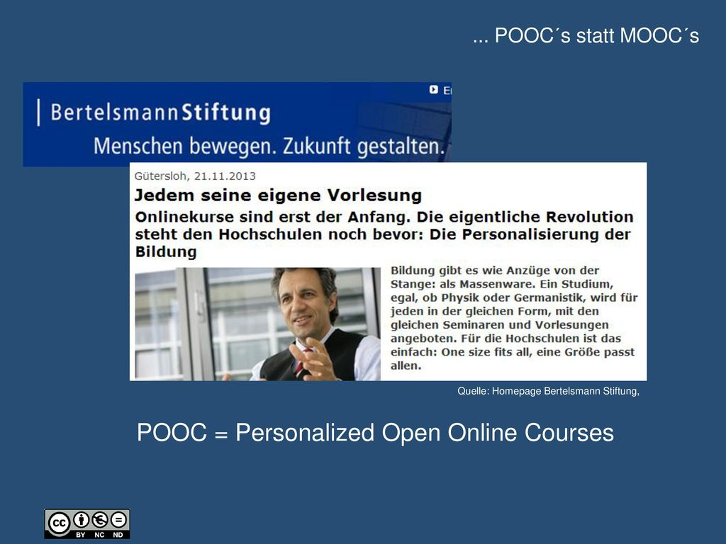 POOC = Personalized Open Online Courses