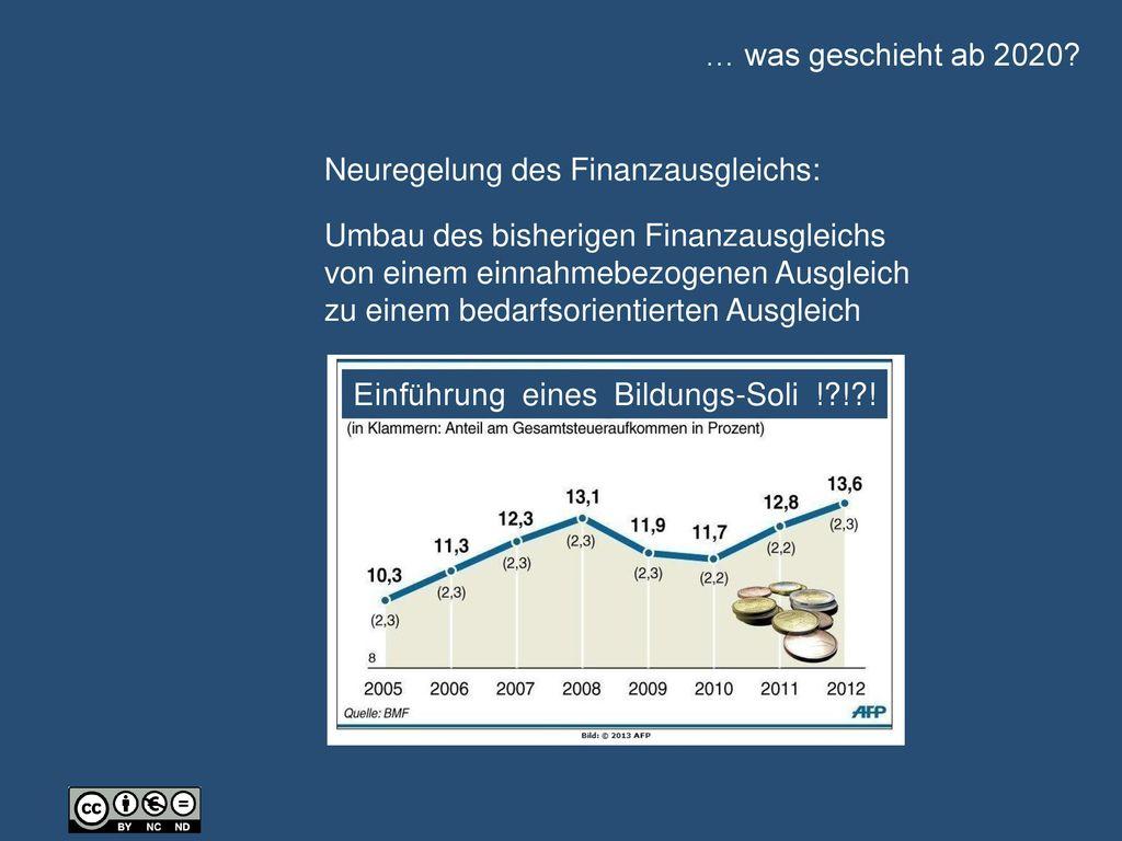 … was geschieht ab 2020 Neuregelung des Finanzausgleichs: