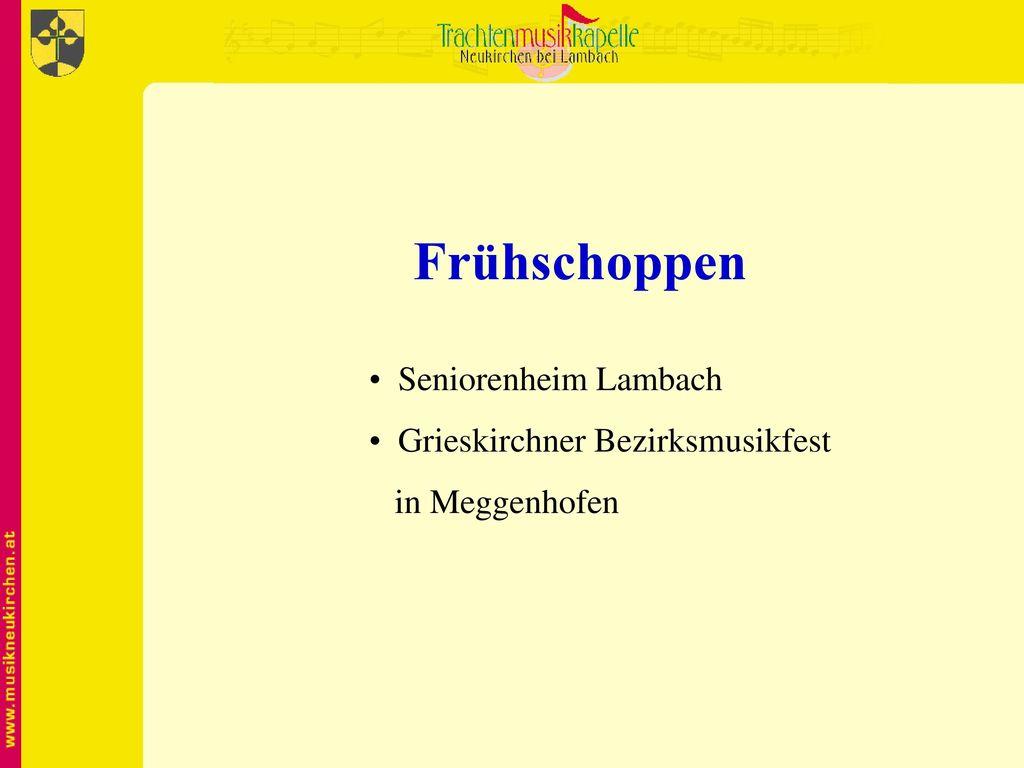 Frühschoppen Seniorenheim Lambach Grieskirchner Bezirksmusikfest