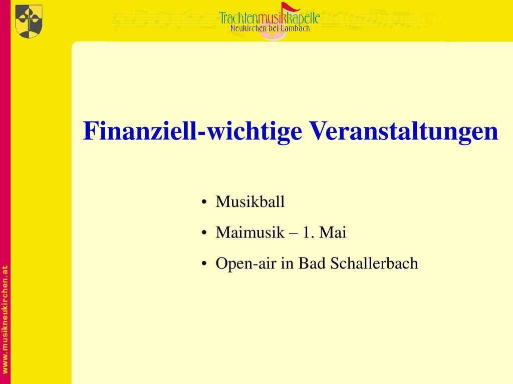 Finanziell-wichtige Veranstaltungen