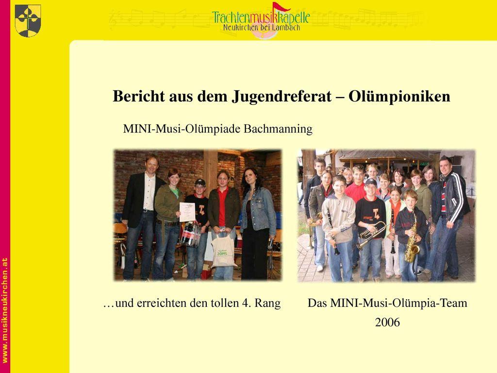 Bericht aus dem Jugendreferat – Olümpioniken
