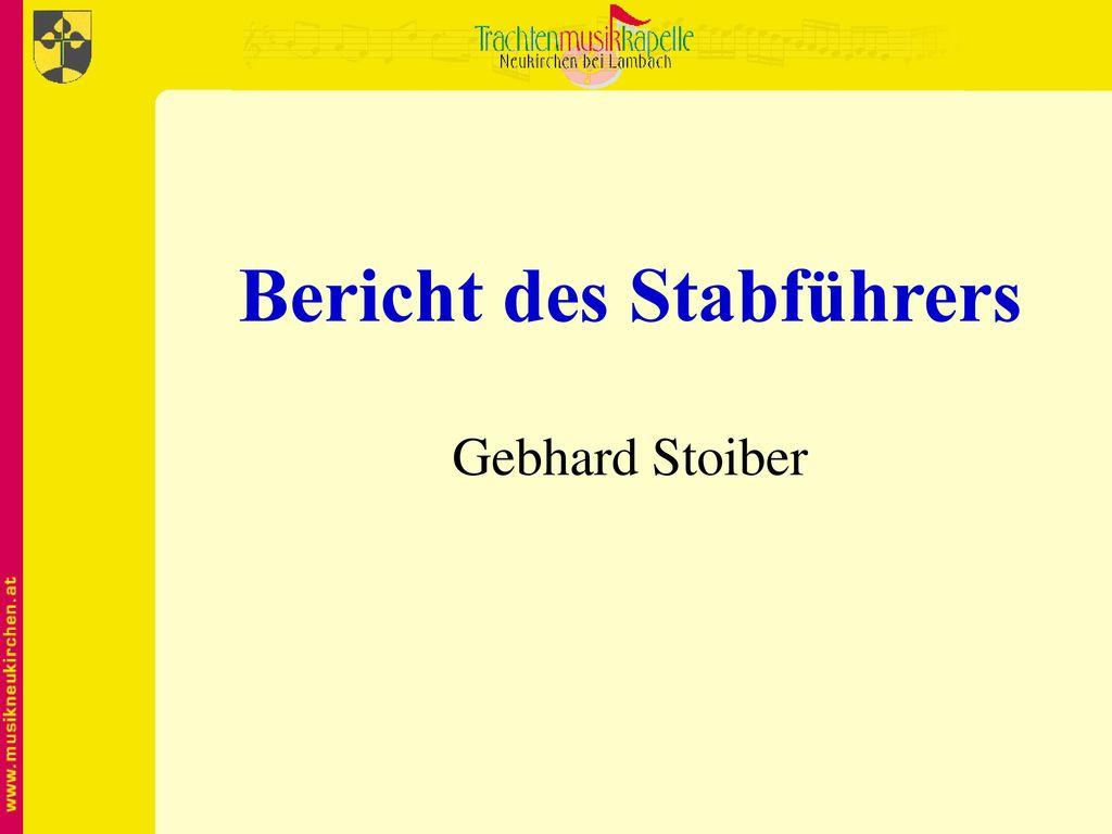 Bericht des Stabführers