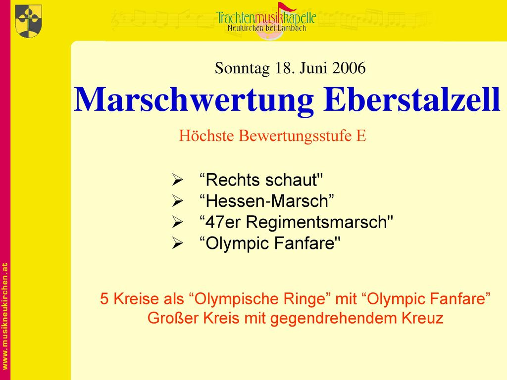Marschwertung Eberstalzell