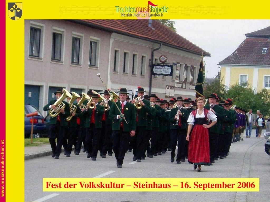 Fest der Volkskultur – Steinhaus – 16. September 2006