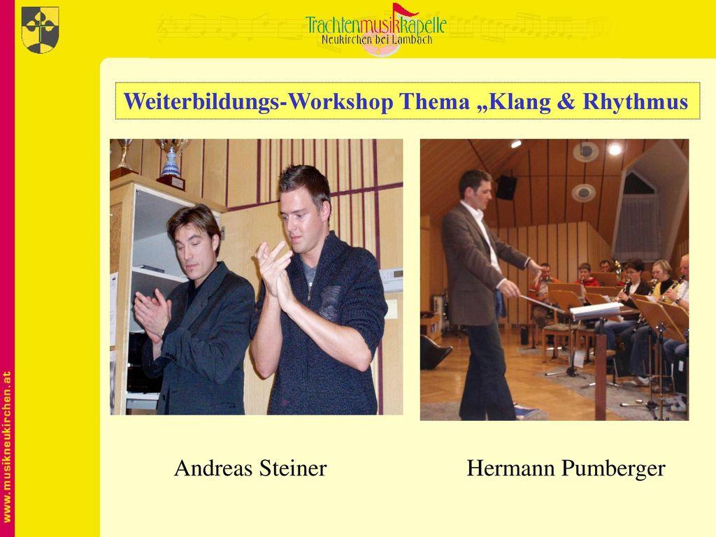 """Weiterbildungs-Workshop Thema """"Klang & Rhythmus"""