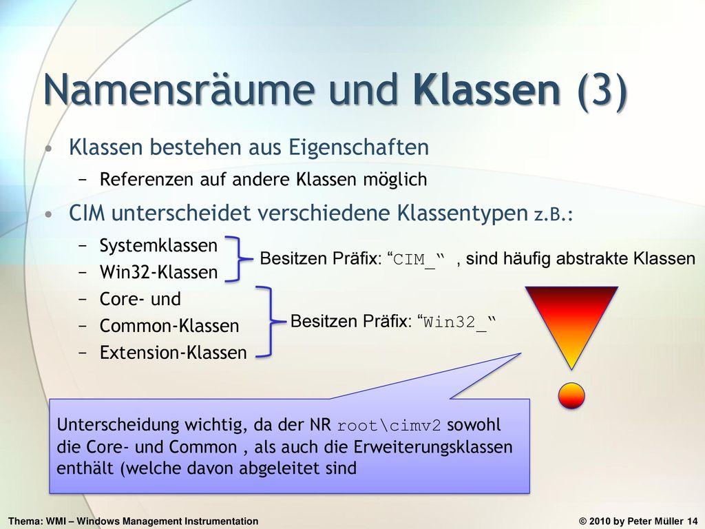 Namensräume und Klassen (3)