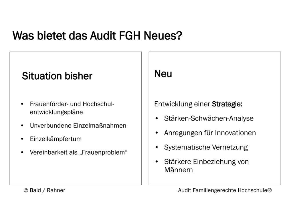 Was bietet das Audit FGH Neues